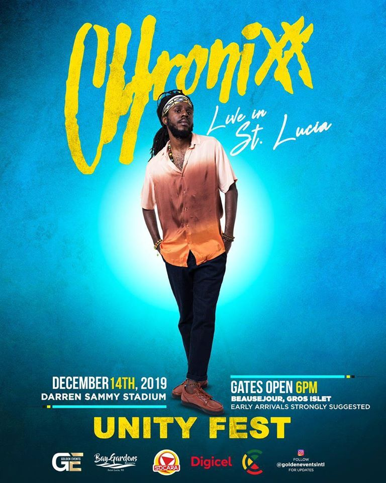 chronixx unity Fest st lucia 14 dec