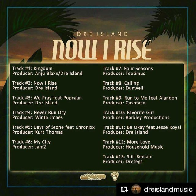 #Repost @dreislandmusic ・・・ Proud to Announce the Offical release of my #debut #album #NOWIRISE. OUT NOW IN ALL DIGITAL STORES AND #PLATFORMS  WORLD WIDE !!!!🇯🇲🌴🔥