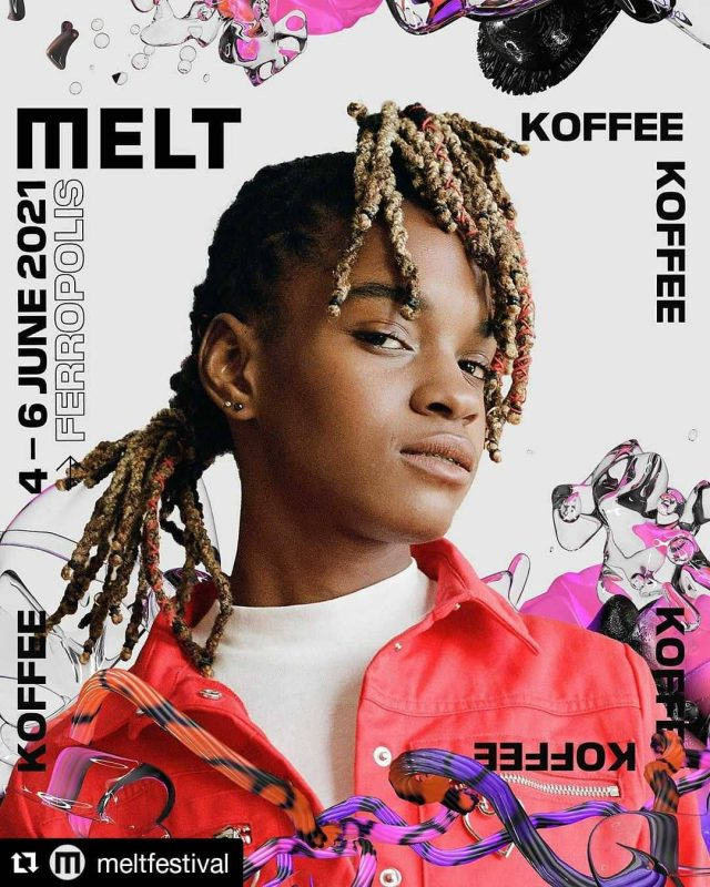 #Repost @meltfestival  ・・・ Koffee at #melt2021 ☀️☕️🇯🇲  Yo Izy, are you kidding me? Grammy-winning new-wave reggae prodigy @originalkoffee will be joining us for #anewworld!  Make sure to check Koffees repeat 'Toast' and catch her in Ferropolis next summer, regular tickets will be on sale from 20 July.
