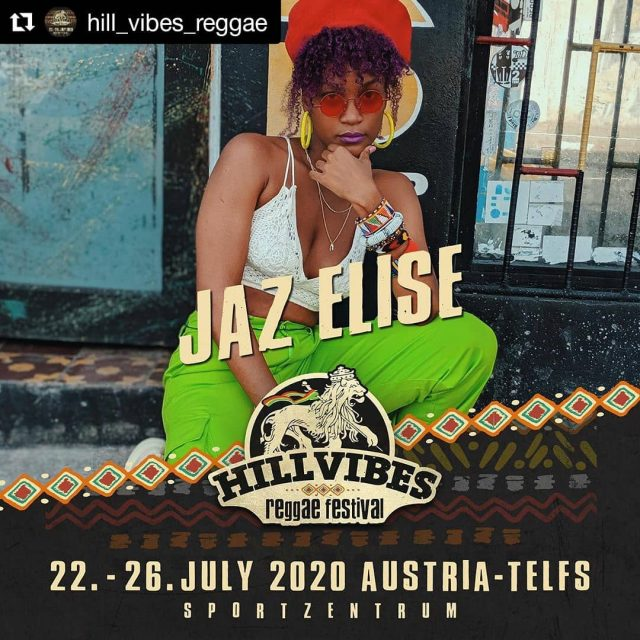 "#Repost @hill_vibes_reggae ・・・ Rasta Hill Camp proudly presents:  Der 2. Female Artist fürs Hill Vibes Reggae Festival 2020! ‼️‼️ Jaz Elise ‼️‼️ Raised and molded in the strongly cultured City of Kingston Jamaica, JAZ ELISE is an artiste who is on a mission to make great songs and uplift and spread positivity to everyone. Jaz goes by her philosophy, ""Fulfill your purpose by following your passions and your heart and be guided by the wisdom of those who came before. Know that you are, you can and you will"". Jaz Elise´s Sound is a mixture of soulful melodies and Dj Style. her aim is to tell real stories and give real perspectives in her music and to entertain. From her heart to your ears! Jaz was featured on Upsetta Records´Love Vibration riddim in 2018 with the song ""Forever Guide"" as her first entry into the music arena.  2019 Jaz released her second and latest single ""Fresh & Clean"" its a afrobeat/dancehall fusion and in it she sings about stepping your best foot forward, owning the confidence we have within and sharing that with others.  Hill Vibes a build vibes and nuh kill vibes 🔥🔥🔥 Tickets und alle weiteren Infos zum Festival:  www.hill-vibes.at ❤️💛💚 #bestival #calip #gentleman #MorganHeritage #Culture #naomicowan #JazElise #rastahillcamp #hillvibesreggaefestival #hillvibes #festival #reggae #austria #vibes #tickets #liveintelfs #blessings #gratitudeisamust #hillvibesabuildvibes #hv20"